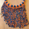 Orange is the new blue necklace