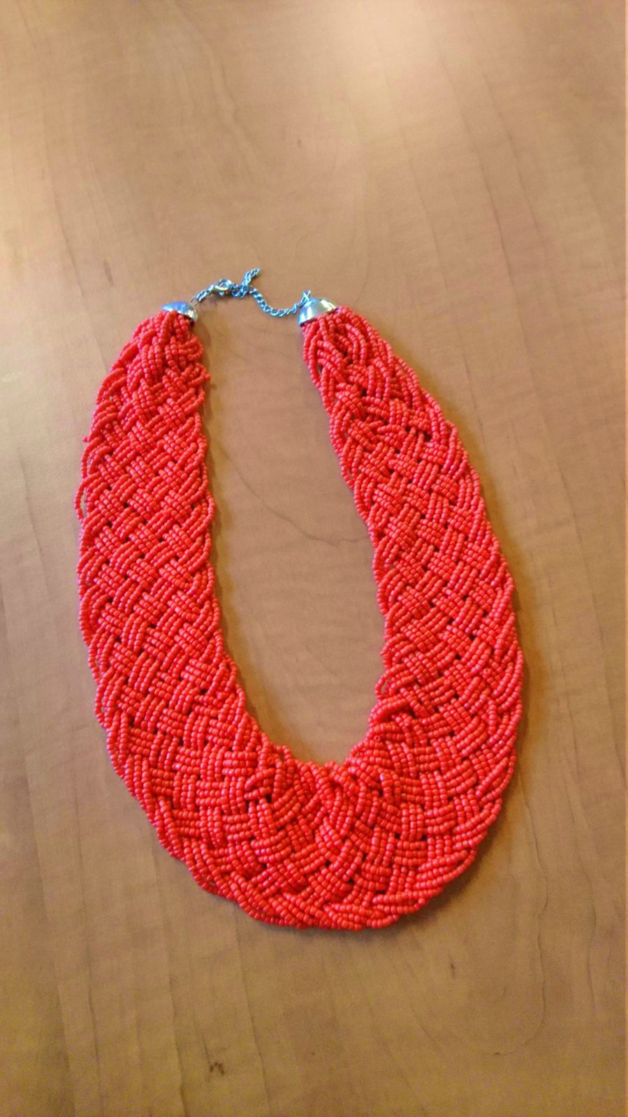 Handmade red necklace