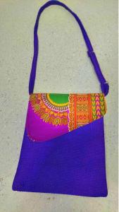 Blue recycled shoulder bag