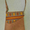 Brown recycled shoulder bag
