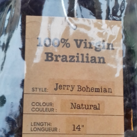 100 % Virgin Brazilian Human Hair