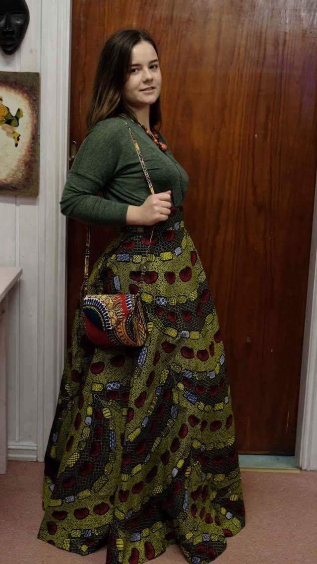 Long African dress skirt 2