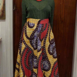 Long African dress skirt