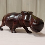 Red wood hippopotamus