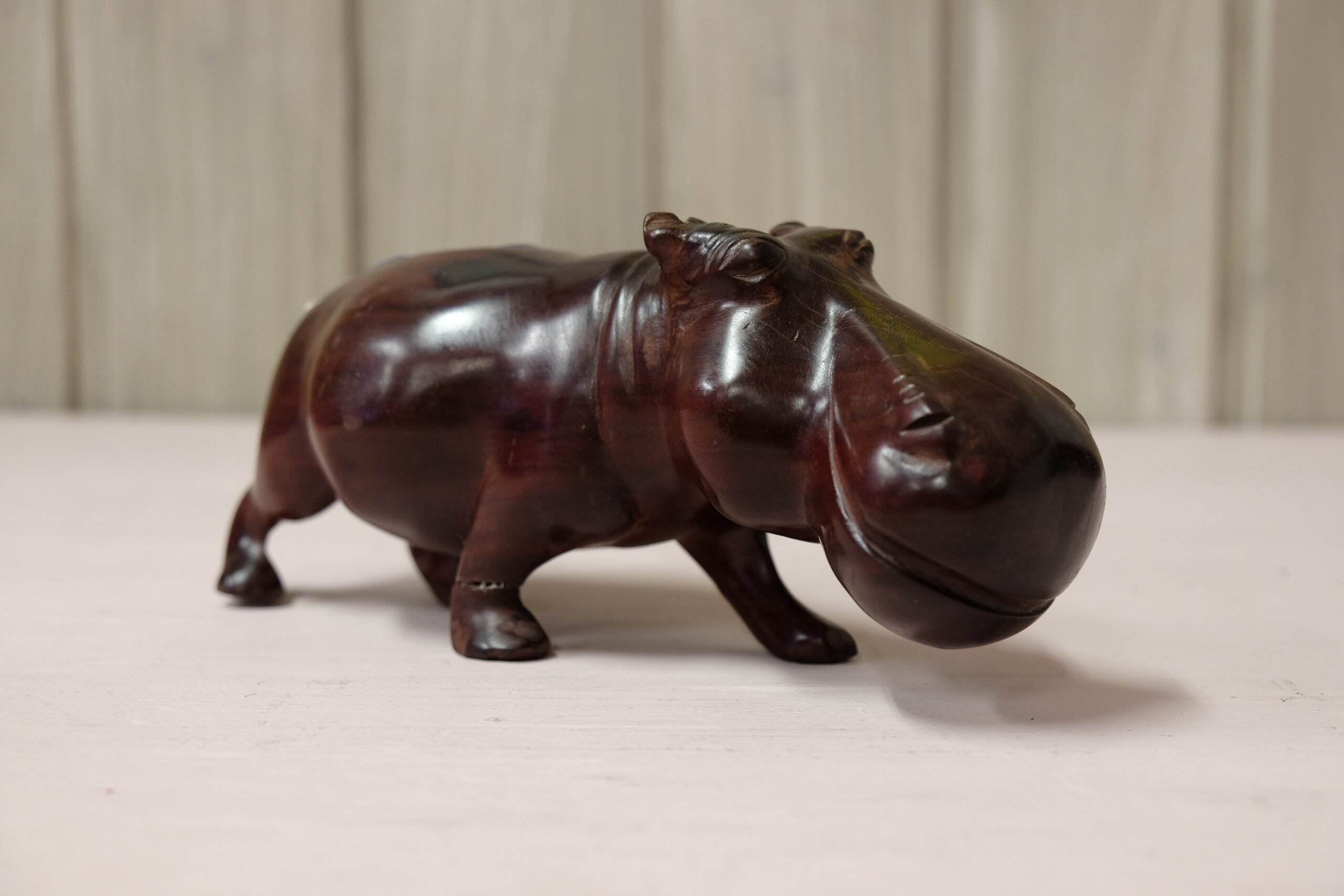 Red wood hippopotamus