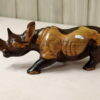 Rhinoceros light and dark brown